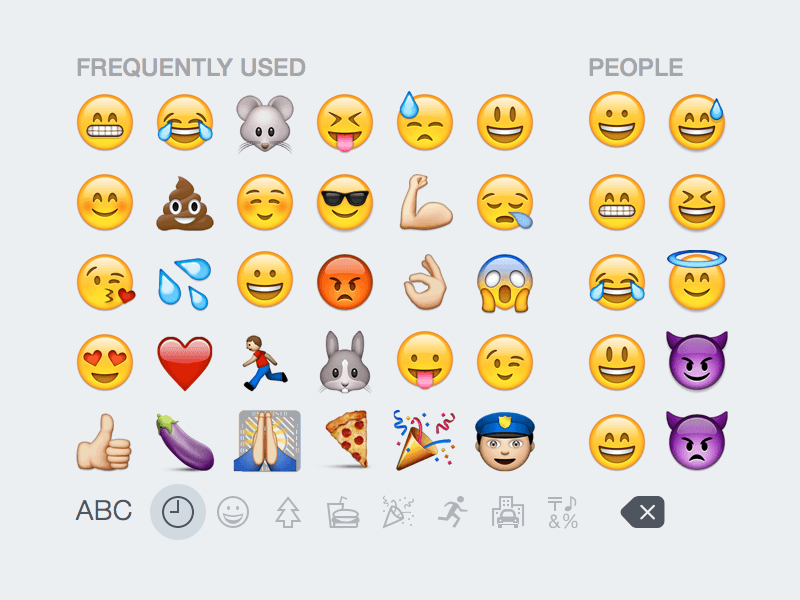 iOS 8 Emoji Keyboard Sketch freebie - Download free resource
