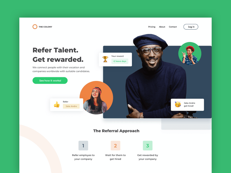 Employee Referral Landing Page