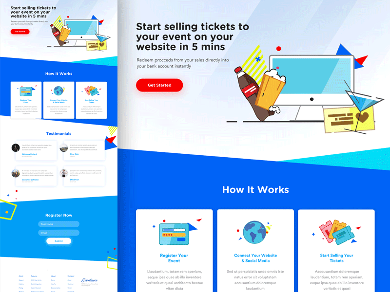 Eventsure Landing Page