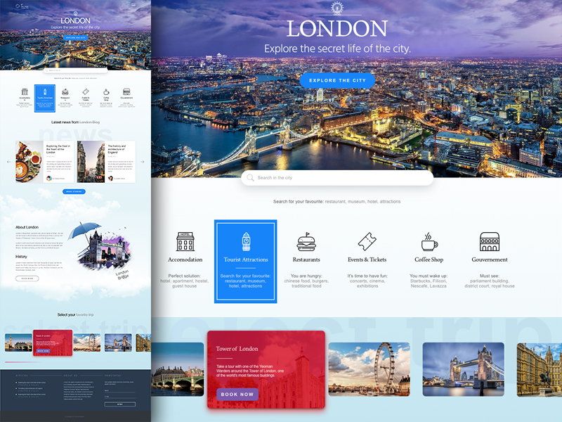 Explore The City Landing Page