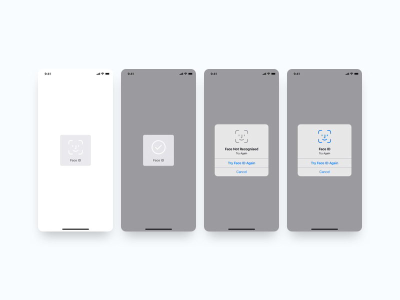 Face ID Components with Apple Guidelines Sketch freebie