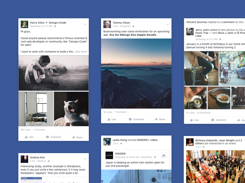 Facebook News Feed Formats