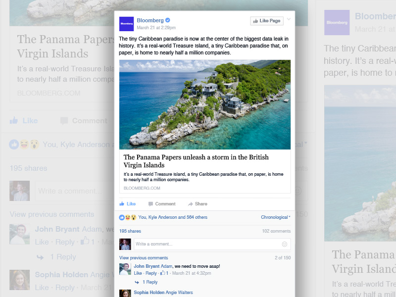 Facebook News Item Template Sketch freebie - Download free resource