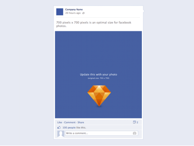 Facebook post sketch freebie download free resource for for Facebook app template psd