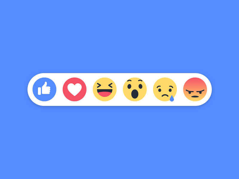 New Facebook Emoji Reactions Sketch freebie - Download free resource