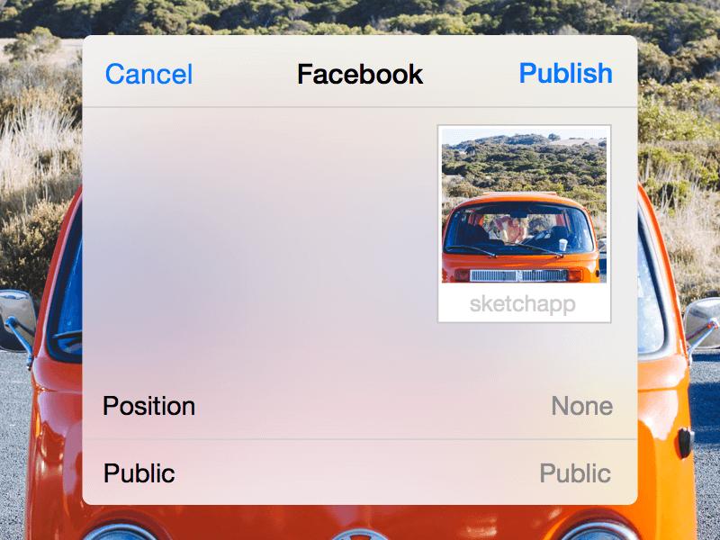 Facebook Share Dialog Sketch Freebie Download Free Resource For Sketch Sketch App Sources
