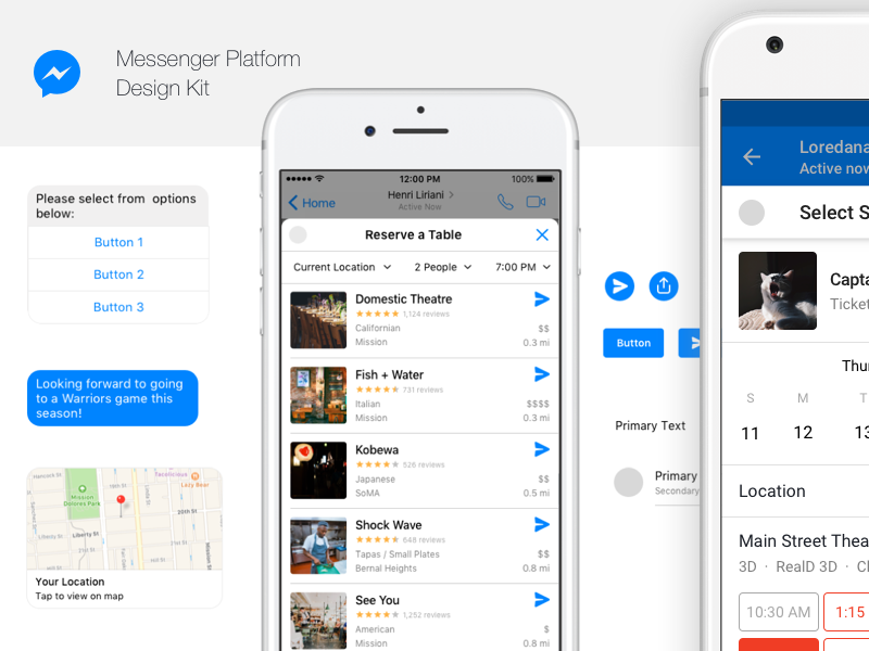 Messenger Platform Design Kit