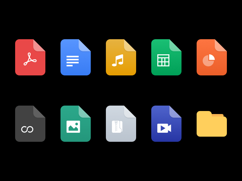 10 File Icons