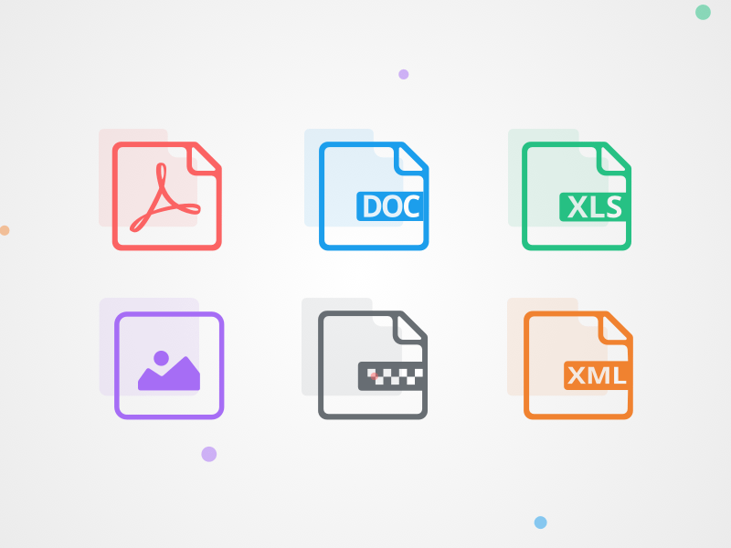 6 File Type Icons