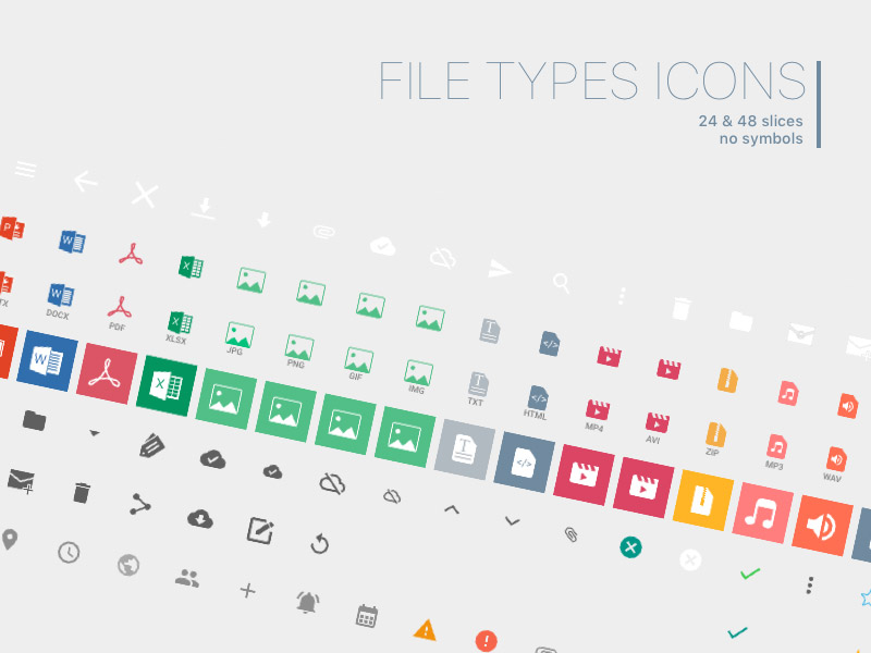 24 File Types Icons
