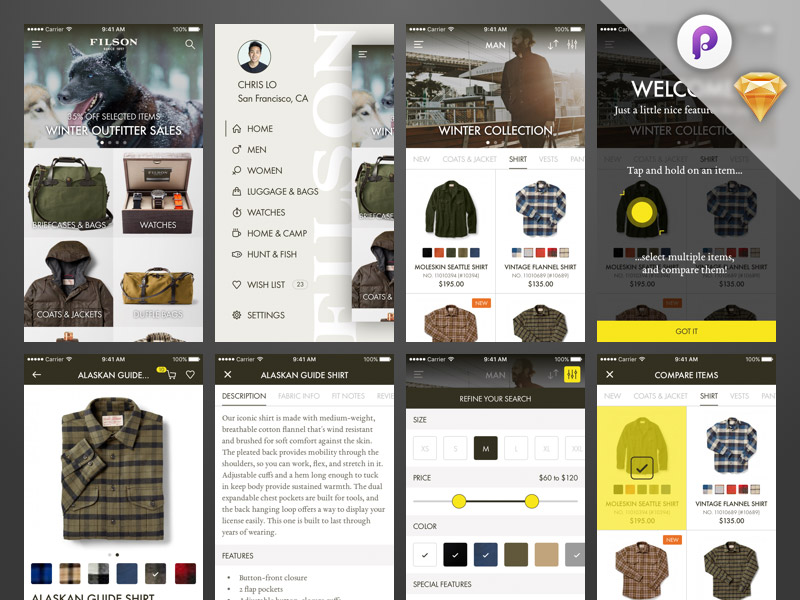 Ecommerce Ui Kit Web Template Shopping Cart Free Resources