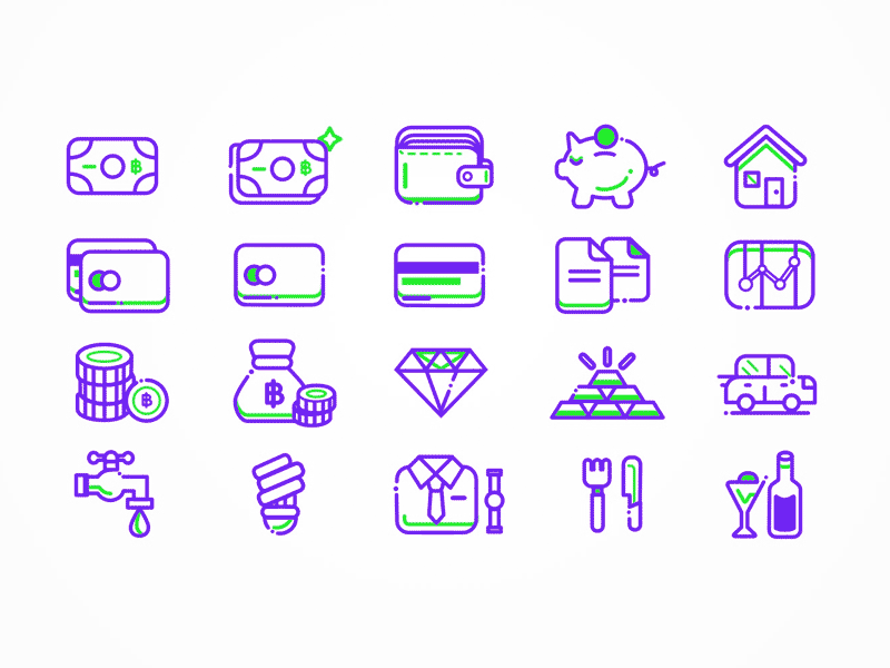 finance icon set sketch freebie download free resource for sketch