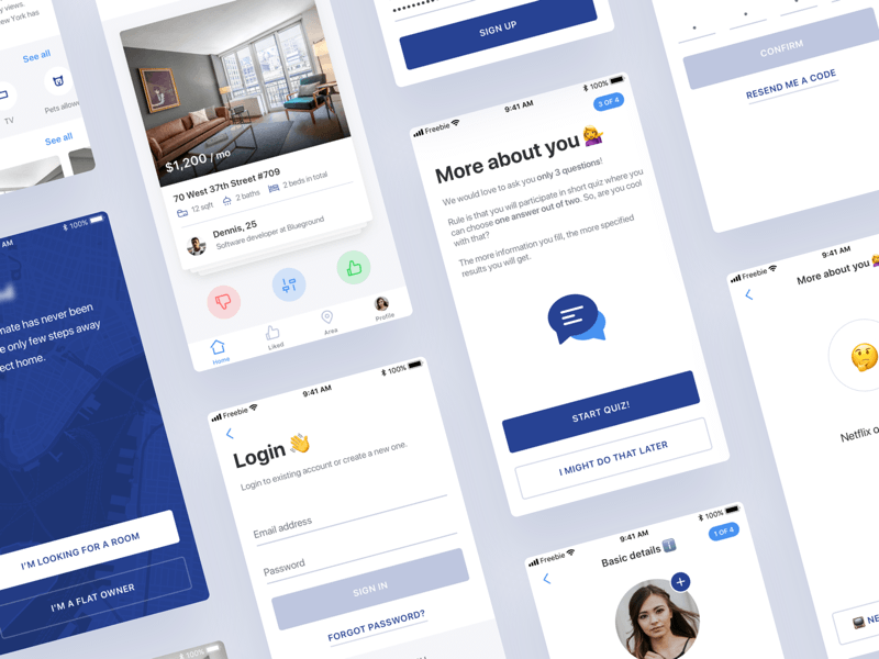 Find a Roommate App Concept
