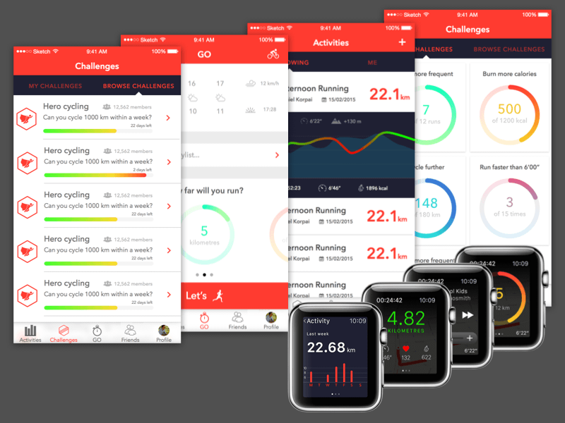Fitness App with Apple Watch Compatibility