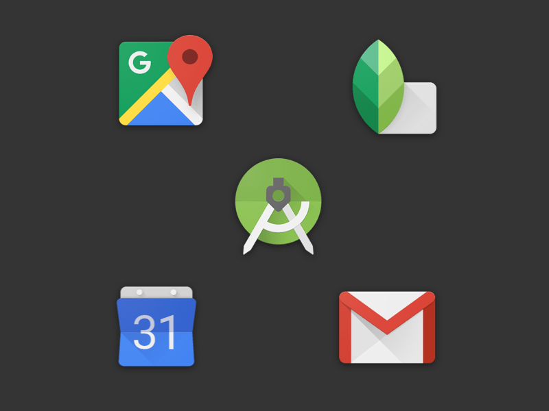 Five Google Icons Sketch freebie - Download free resource