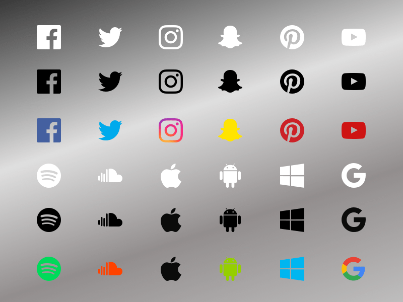 Social Media Icons, Banner Template, Buttons, Badges, Ad