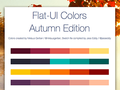 Flat UI Colors Autumn Edition