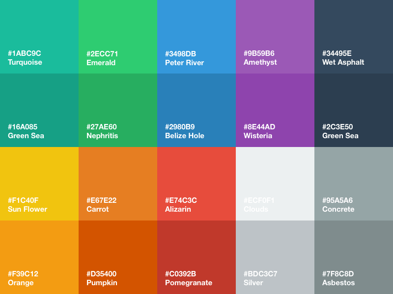 Flat ui color palette sketch freebie download free for Program like paint for mac