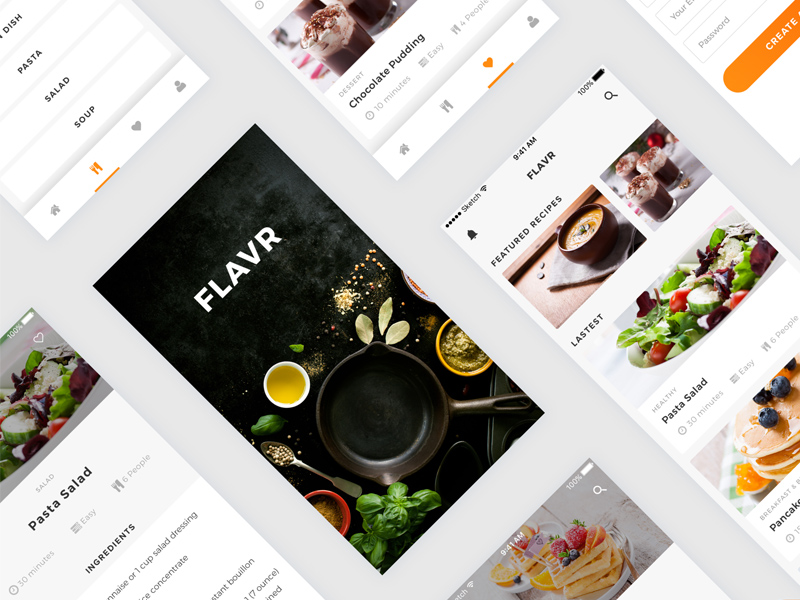 Flavr recipes ios app sketch freebie download free resource for flavr recipes ios app forumfinder Image collections