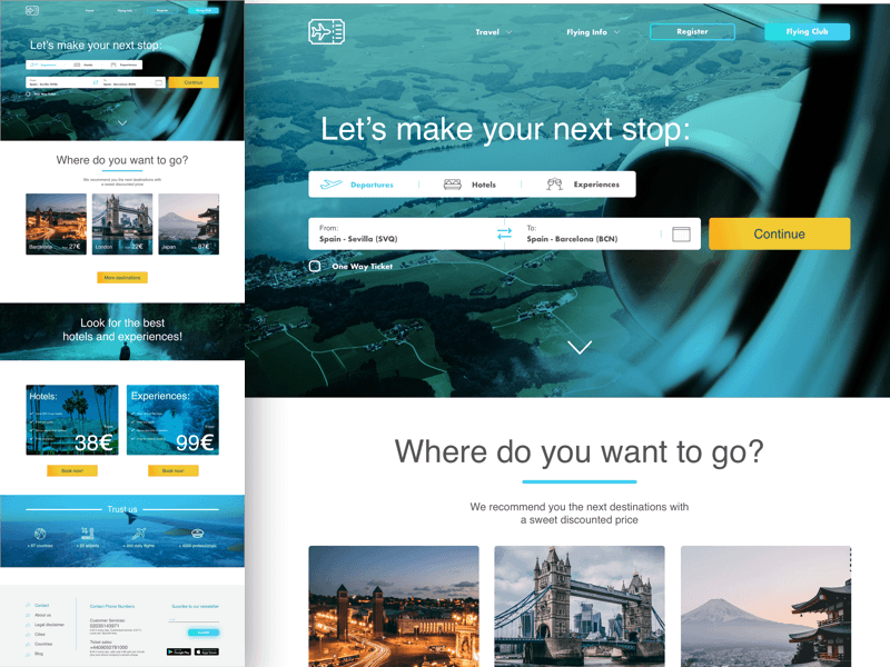 Travel and Flight Booking Landing Page