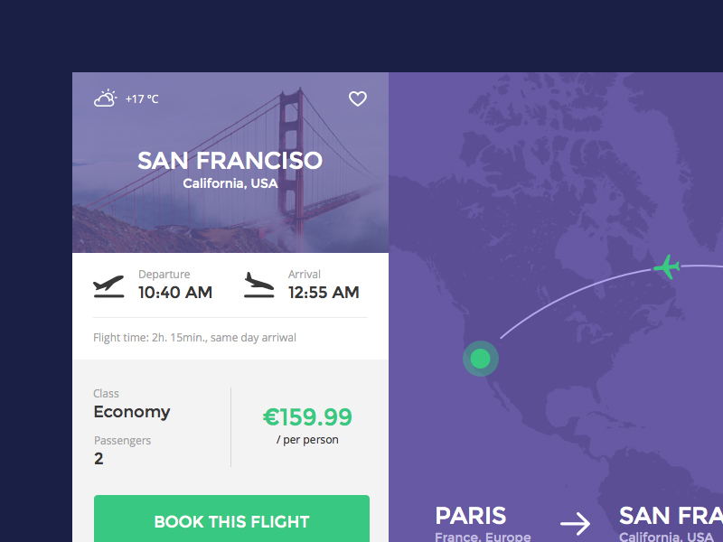 Flight Booking UI Sketch freebie - Download free resource for Sketch