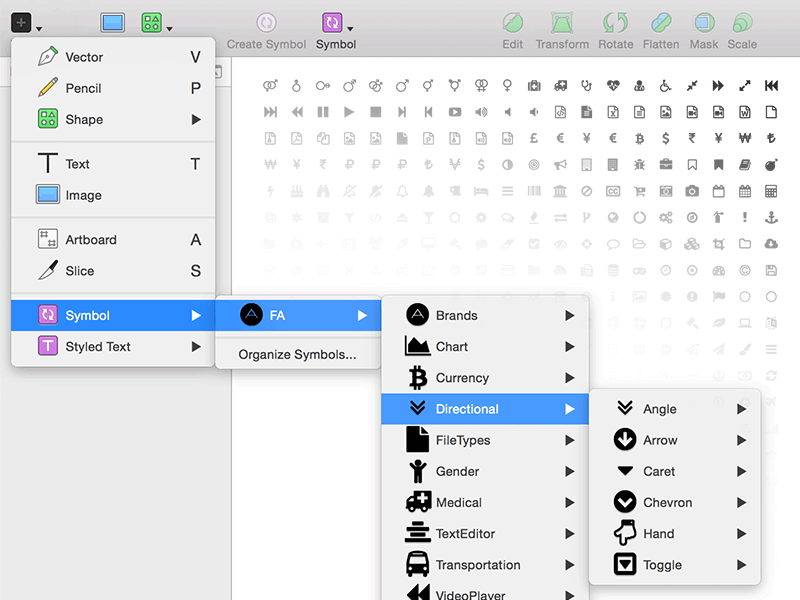 Font Awesome Sketch Symbols