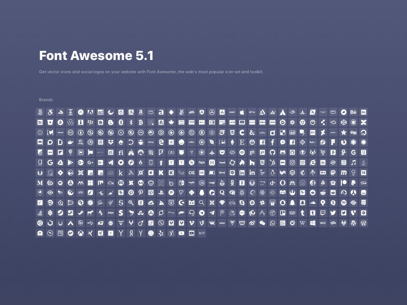 Scratch UI Font Awesome Brands Icon Sheet