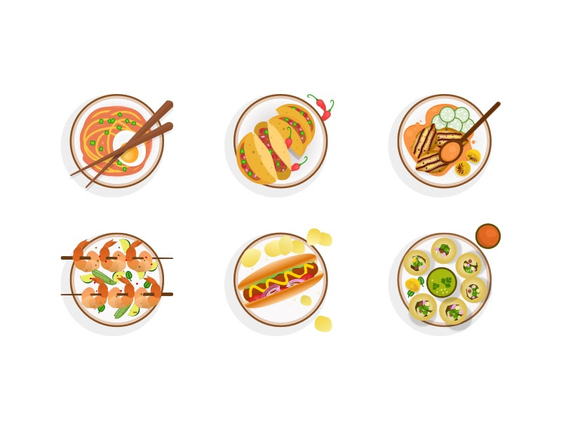 6 Food Icons