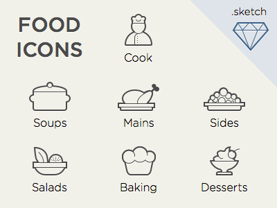 Food Icons Sketch Freebie Download Free Resource For