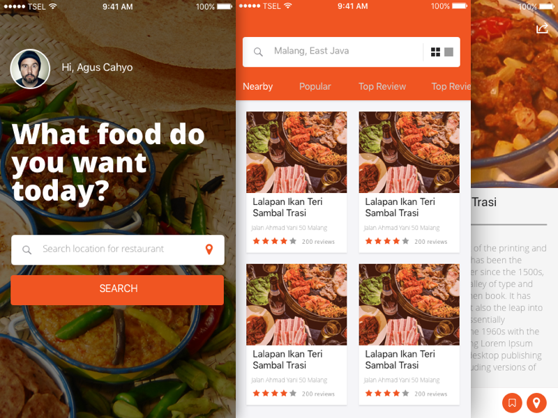 Foodies Restaurant App Sketch freebie - Download free resource for