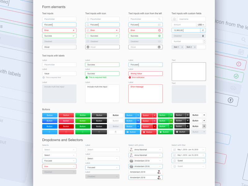 Small Form UI Kit