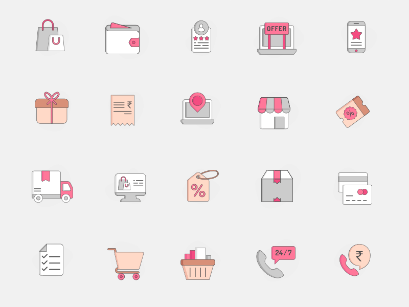 20 E-commerce Icons