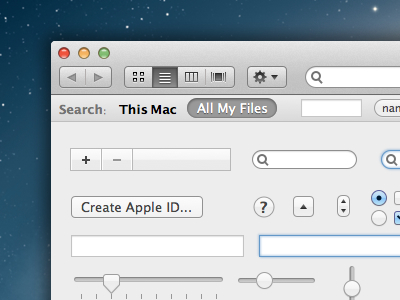 Free Mountain Lion UI Kit