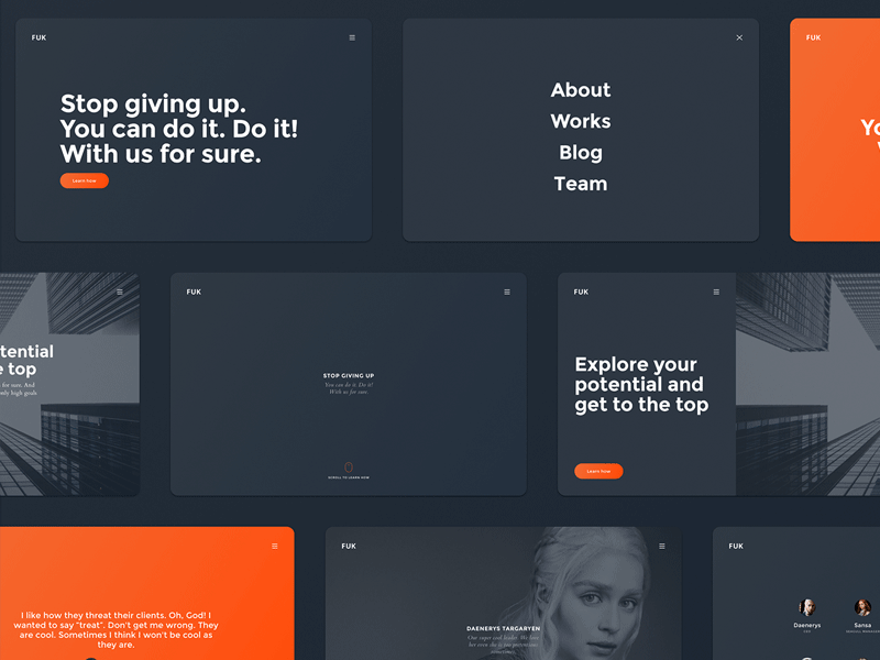 FUK - Free UI Kit for Web Design Sketch freebie - Download free