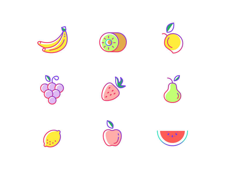 9 Fruit Icons