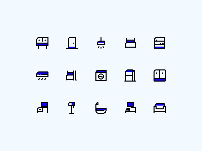 15 Furniture App Icons