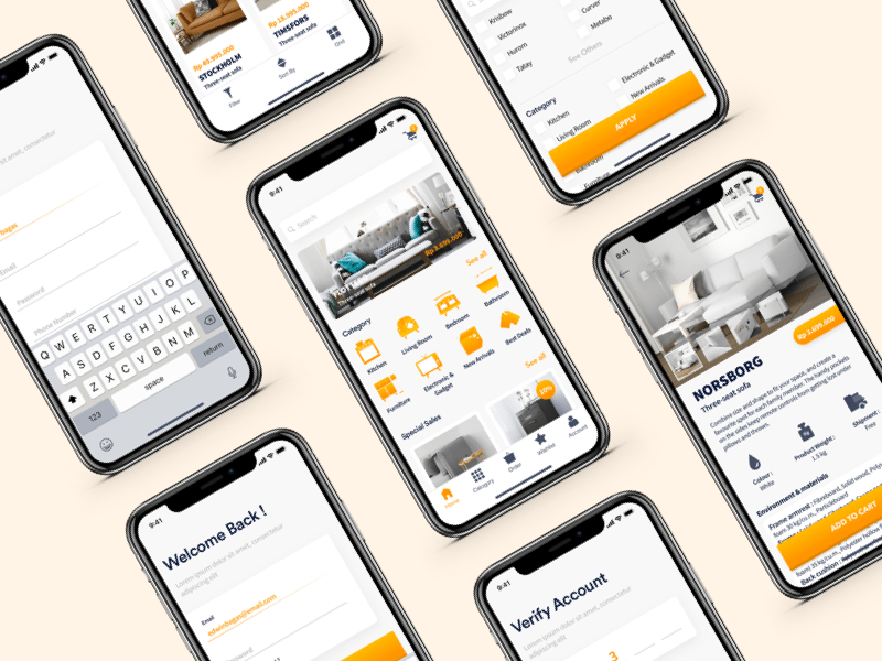 Furniture iOS App Concept