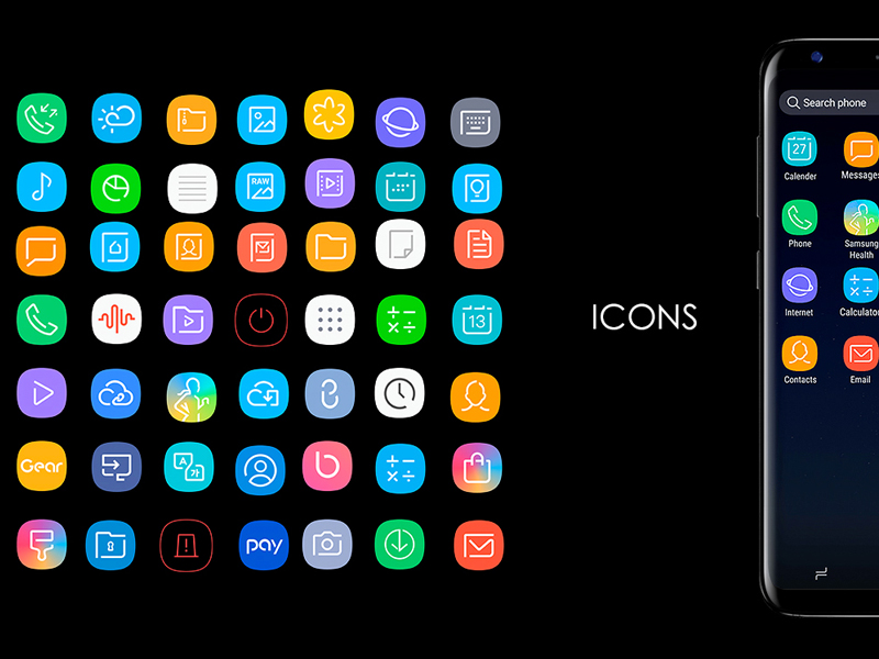 Galaxy S8 Icons Sketch Freebie Download Free Resource For Sketch