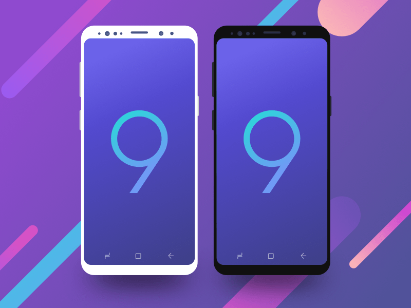 Galaxy S9 Minimal Front Mockup Sketch freebie - Download