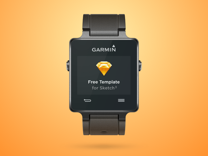 Garmin Vivoactive Smartwatch Sketch freebie - Download free resource