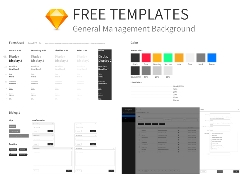 General Management Templates