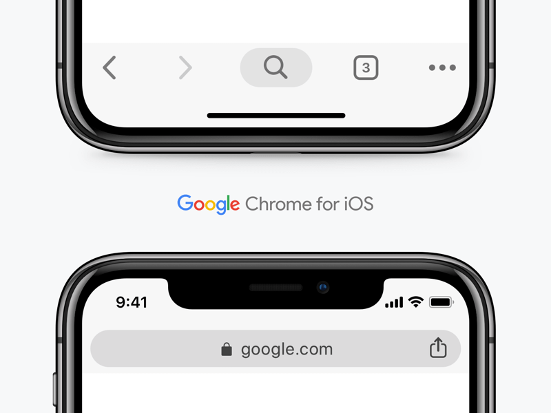Google Chrome UI for iOS