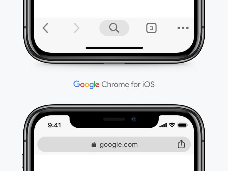 Google Chrome UI for iOS Sketch freebie - Download free