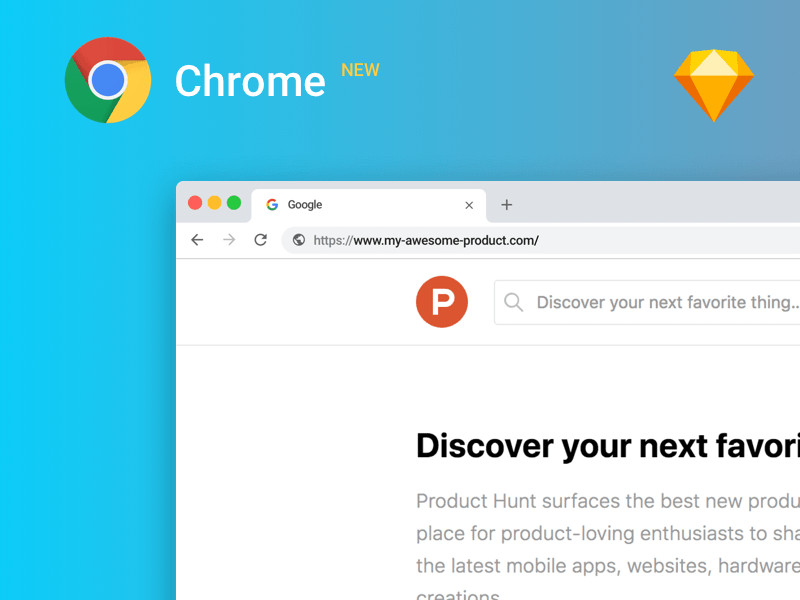 Google Chrome UI Kit Sketch freebie - Download free resource