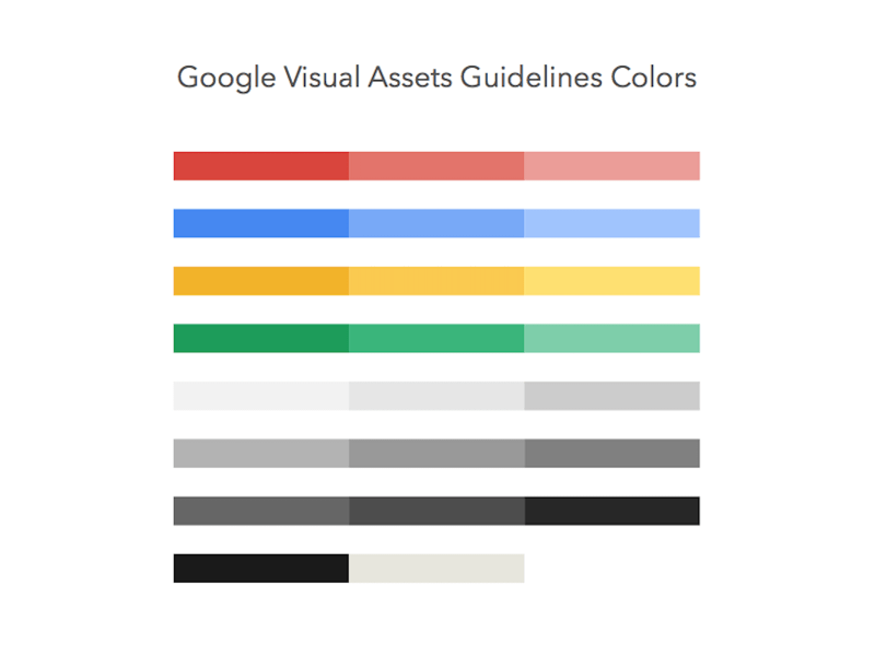 Google Visual Assets Guidelines Colors