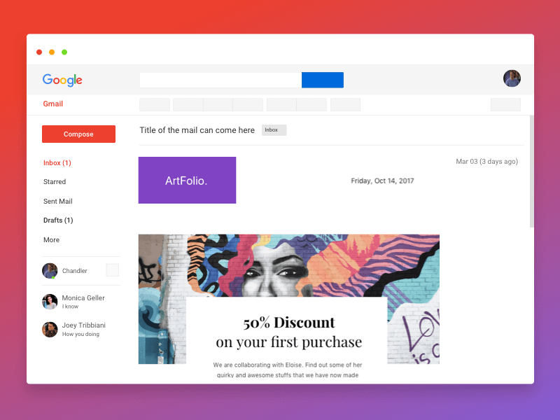 Gmail Newsletter Mockup
