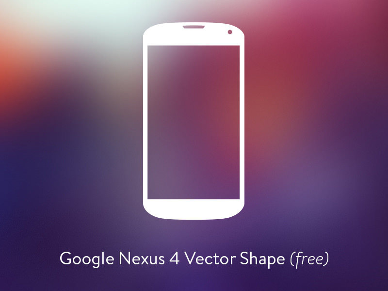 Google Nexus 4 Vector Shape