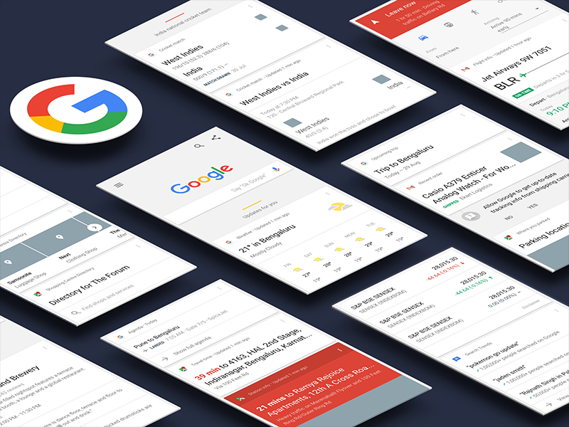Google Now - UI Kit