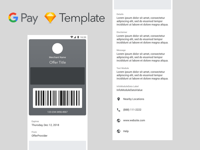 Google Pay for Passes Template