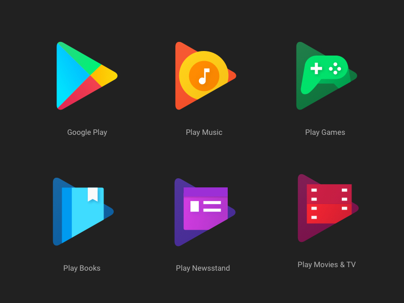 New google play app icons sketch freebie download free Play app